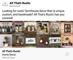 Rustic Farmhouse Decor, Shopping Sites, Floating Shelves, Handmade, Color, Home Decor, Hand Made, Decoration Home, Room Decor