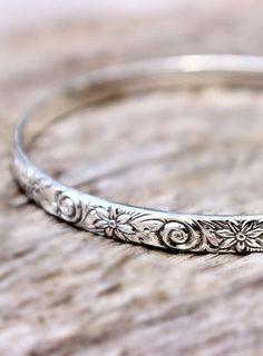 Sterling Silver Bracelet Stacking Bangle