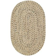 Capel Sea Pottery Sandy Beach Variegated Outdoor Area Rug Rug Size: Oval 7' x 9'