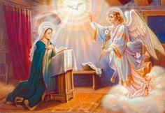 Angel of Annunciation Gabriel and Virgin Mary; Archangels Names, Papa Juan Pablo Ii, Saint Gabriel, Arhanghelul Gabriel, Saint Esprit, Hail Mary, Blessed Virgin Mary, Guardian Angels, Animation