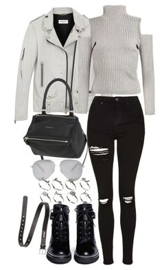 """""""Untitled #2081"""" by eleanorwearsthat ❤ liked on Polyvore featuring MICHAEL Michael Kors, Yves Saint Laurent, Topshop, Givenchy, Victoria Beckham, ASOS and Acne Studios"""