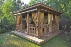 Best Pergola and Pavilion Design Ideas for Your Backyard Backyard Pavilion, Backyard Gazebo, Patio Roof, Pergola Patio, Pergola Kits, Pergola Ideas, Outdoor Pavilion, Outdoor Seating, Outdoor Spaces