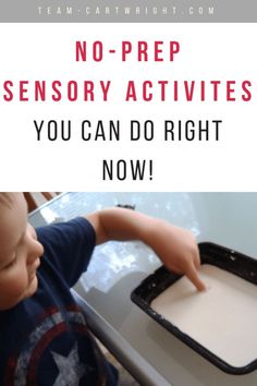 Sensory play doesn't have to be hard. Here are no-prep activities that work all your children's senses. Plus learn why this play is so valuable for brain development! #learning #activity #sensory #play #benefits #toddler #kids #preschool #easy #noprep Team-Cartwright.com