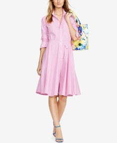 Polo Ralph Lauren pink Bengal-Striped Shirtdress. Thought this dress was pretty when I saw it at the store.