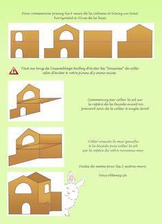 Construction on pinterest for Cabane a lapin exterieur