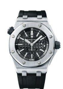 Audemars Piguet Royal Oak Offshore Diver Automatic Black Dial Watch 15703ST.OO.A002CA.01