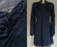 NWT Navy Flowing MASSIMO DUTTI dress RRP99.95€ Sizes S-M   eBay