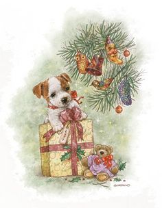 Artist Greg Giordano - Cats and Dogs Christmas