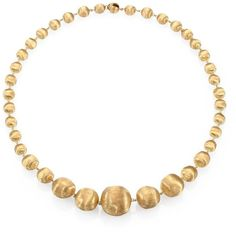 Marco Bicego Africa 18K Yellow Gold Graduated Ball Necklace (378.335 RUB) ❤ liked on Polyvore featuring jewelry, necklaces, apparel & accessories, yellow gold, gold ball necklace, graduation jewelry, marco bicego necklace, 18k jewelry and gold strand necklace