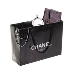 Premade Chanel Shopping Bag ❤ liked on Polyvore featuring bags, handbags, tote bags, fillers, accessories, shopping bags, chanel, shopping tote bags, shopping tote and chanel handbags