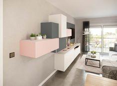 Meubles de salon modèle Nova loft - COMERA Cuisines Nova, Svelte Sage, Pastel Colors, Furniture