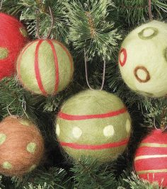 Needle-Felted Ornaments: Seasonal Projects: Winter: Shop | Joann.com