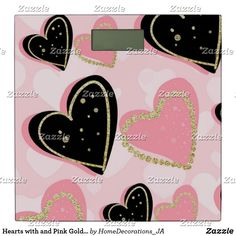 Hearts with and Pink Gold Dressy Girl Background Bathroom Scale Bath Scale, Girl Background, Pink And Gold, Hearts, Bathroom, Washroom, Full Bath, Bath, Bathrooms