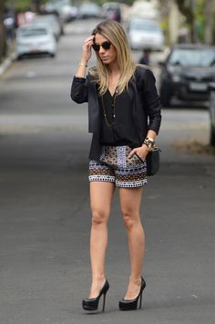 Meu Look: Short Etnico Tricot Short Meu Look Blazer  glam4you