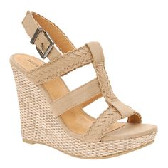 Nude wedges at Spring.