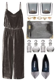 """""""Silver Lining"""" by theapapa ❤ liked on Polyvore featuring Madewell, Manolo Blahnik, Foley + Corinna, Leonardo, Forever 21 and Cultural Intrigue"""