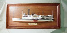Island steamboat NANTUCKET c.1887 -Half Model Wall Plaque, Rex Stewart