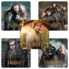 Hobbit Movie Stickers - 75 Pack  Nice little prize/takeway for Hobbit party