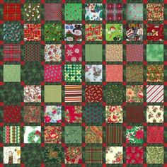 Free Charm Square Quilt Patterns | Charming Christmas Quilt | FaveCrafts.com