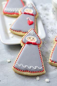 Winter Doll Cookies