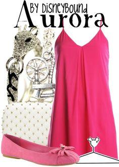 "Disney Princess Sleeping Beauty ""Aurora""-inspired outfit.   Disney Bound."