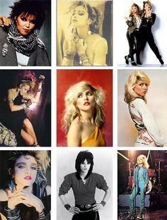 1980's. I would sport ALL of these 80's styles at once if I could get away with it!