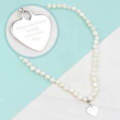 This stunning Personalised White Freshwater Pearl Message Necklace is a stylish and unique gift for her that's ideal for all occasions!