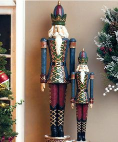 Take a look at this Jumbo Blue & Red Decorative Nutcracker Figurine by Evergreen on #zulily today!