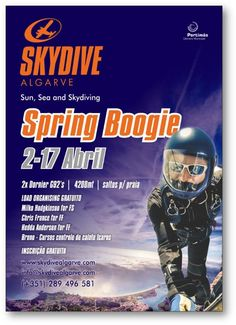 See the Algarve from 14,000 feet with Skydive Algarve's Spring Boogie! http://www.mydestination.com/algarve/events/73685089/skydive-algarve-spring-boogie-2-april-2016