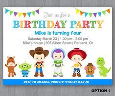Invitación del cumpleaños historia del juguete por KidzParty