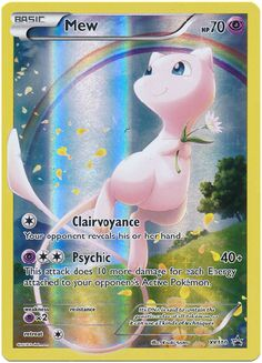 Mew XY110 Pokemon TCG: XY Black Star Promo Card, Full Art Holo Pokemon Card #pokemon #pokemontcg #pokemoncards