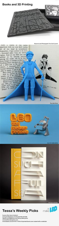 Books and 3D Printing - Tessa's weekly picks of 3D printed designs.