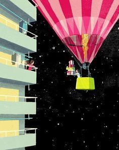 DesignWorkLife:  Artwork from Japanese artist Tatsuro Kiuchi.  Enchanting.