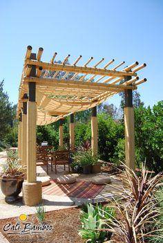 Bamboo patio covering
