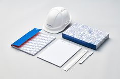 Brand identity for Auckland construction company Haydn & Rollett by graphic design studio Richards Partners, New Zealand Stationary Branding, Stationery Design, Logo Branding, Logos, Construction Branding, Construction Business, Corporate Identity, Corporate Design, Visual Identity
