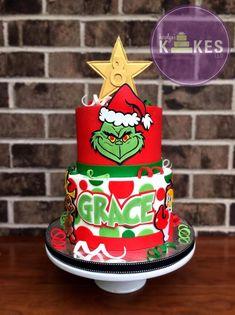 How The Grinch Stole An Eighth Birthday Cake Grinch Christmas Decorations, Grinch Christmas Party, Grinch Party, Christmas Drinks, Christmas Treats, Christmas Cookies, Christmas Carol, Christmas 2019, Christmas Birthday Cake