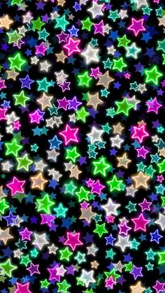 Colorful neon looking Stars wallpaper Star Wallpaper, Wood Wallpaper, Textured Wallpaper, Disney Wallpaper, Wallpaper Backgrounds, Wallpapers, Vintage Wallpaper Patterns, Pattern Wallpaper, Wall Clings
