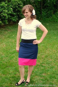 Color Block Skirt from Craftaholics Anonymous