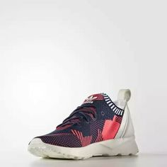 591d660d0 Bold graphic and Primeknit detail on Adidas Originals ZXflux Adv Virtue  shoes for women 02