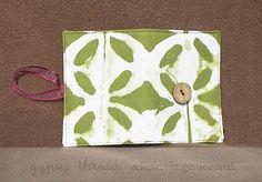 Green Batik Tea Wallet by Gypsy Thread