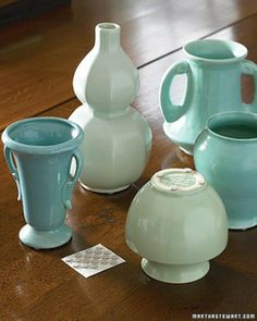 Attach rubber disks or felt to the bottoms of vases, candlesticks, and collectibles to protect furniture from scratches. via Martha Stewart