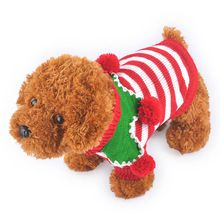 Fashion Cute Christmas Pet Dog Sweater 3 Colors Autumn Winter Warm Dog Clothes 4 Sizes Puppy Knit Coat END078(China (Mainland))