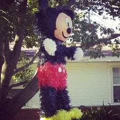 Mickey Mouse birthday party pinata Mickey Mouse Birthday, Birthday Parties, Angel, Holidays, My Favorite Things, Halloween, Party, How To Make, Crafts