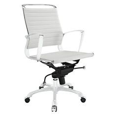 Modway Tempo Mid-Back Office Chair White - EEI-1026-WHI