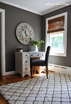 Dear Lillie Jason's Home Office/Guest Room | September 18, 2014 | http://dearlillieblog.blogspot.com/2014/09/jasons-home-officeguest-room.html