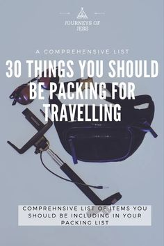 It's a daunting aspect thinking of what to pack for travelling. I've compiled a list of 30 objects not to forget!  travelling packing list | what to pack for travelling