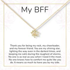 Sometimes it's hard to express thanks to those you are grateful for, but even the small gestures of generosity can deepen friendships. Show your appreciation for your closest friends with these lotus symbolizing your everlasting bond.