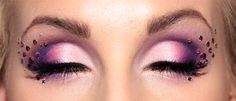 Gorgeous Pinks & Purples  Valentines Day Makeup...Maybe....minus the crystals