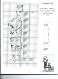 Schema punto croce Alfabeto Bimbi I