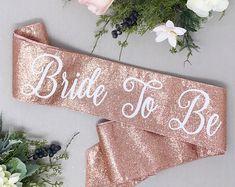 Rose Gold Glitter Bachelorette Sash - Bachelorette Party - Future Mrs. Sash - Bride Sash - Bachelorette Party Sash - Bridesmaid Sash - Brid